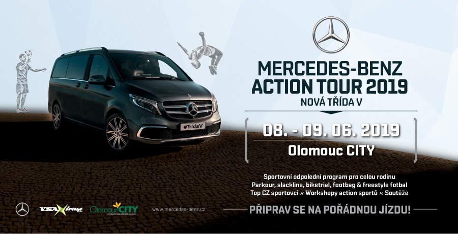 Mercedes-Benz Action Tour 2019 v Olomouc CITY